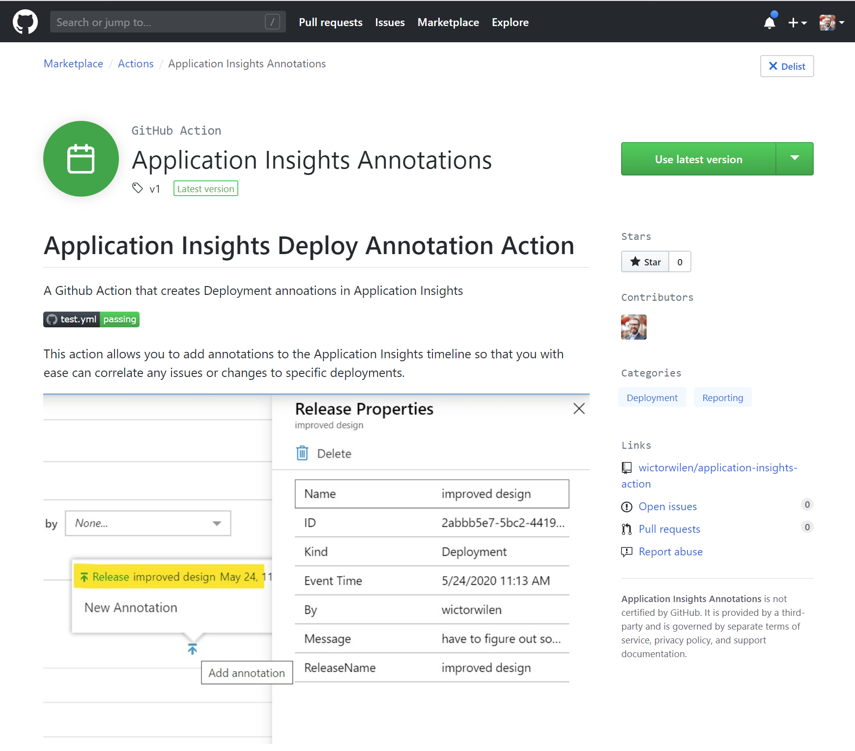Announcing the Application Insights Annotation Github Action