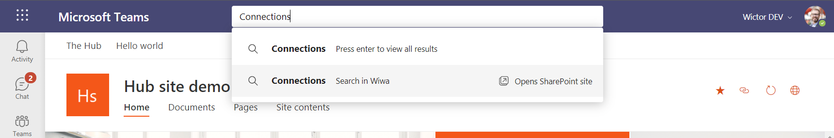 Viva Connections Search