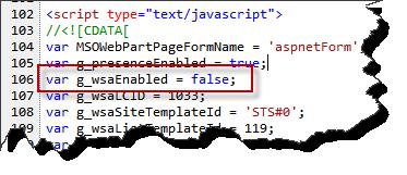 JavaScript CEIP stuff