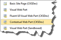 Contextual Web Part SPI