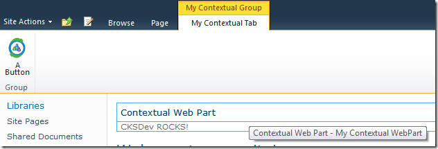 A custom Contextual Web Part