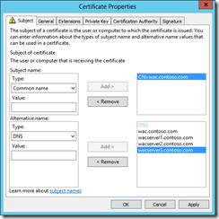 New SAN certificate