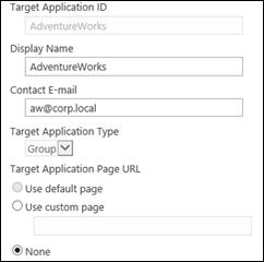 Configuring a Secure Store Application