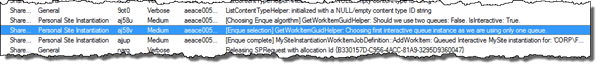 [Enque selection] GetWorkItemGuidHelper: Choosing first interactive queue instance as we are using only one queue.