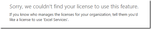 Sorry, we couldn't find your license to use this feature.