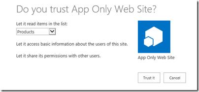 Trust the app!