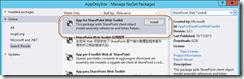 App for SharePoint Web Toolkit NuGet package