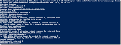 Shutting down the VMWare processes