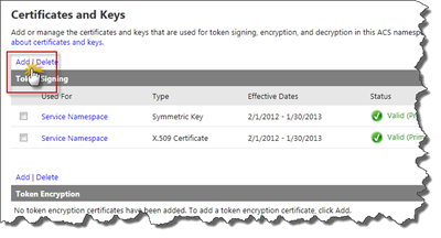 Certificates and Keys