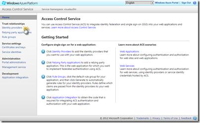 Access Control Services Management Portal