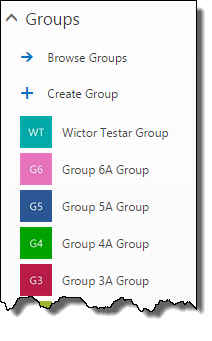 Groups in the Web UI