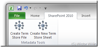 Term Store Ribbon tab in Excel 2010