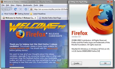 Firefox 3.0 - not RC3