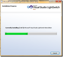 Installing LightSwitch