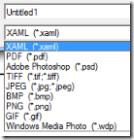 Export formats of Expression Design