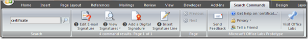 A search for 'certificate'…
