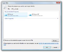 Choose default program for XPS files