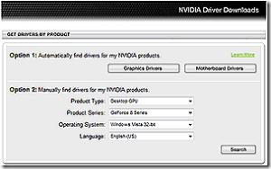 Driver downloads start