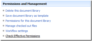 Check Effective Permissions on a list or document library