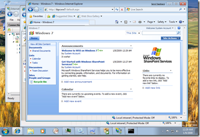WSS on Windows 7
