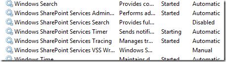 WSS Services on Vista