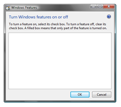 No Windows Vista features to turn on or off!!!