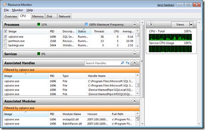 Resource Monitor in Windows 7
