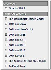 Xml Referece Guide topics