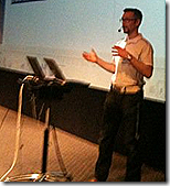 Wictor presenting SharePoint 2010 in Stockholm