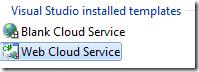 Create a Web Cloud Service
