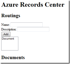 Azure Records Center
