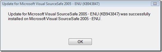 Update for Microsoft Visual SourceSafe 2005 - ENU (KB943847)