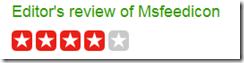 c|net Download.com review of msfeedicon